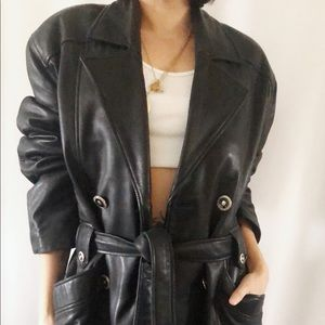 Vintage 80's Danier leather jacket Small